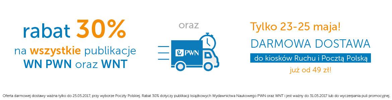 cały PWN i WNT -30% i darmowa dostawa