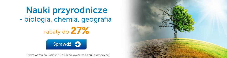 Nauki przyrodnicze do -27%