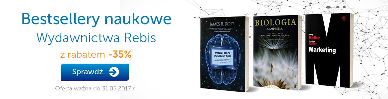 Bestsellery naukowe Wydawnictwa Rebis -35%